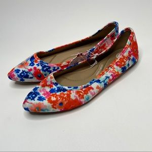 SO Shoes - Kohl's SO Brand Floral Pointed Toe Flats 10 NWT